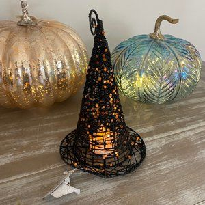 Wire Glitter Witch's Hat Led Flecking Halloween